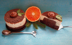 موس ژلاتینی پرتقال و شکلات