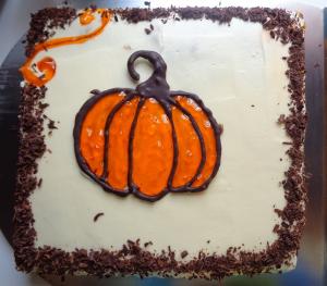 کیک مسطح کدو حلوایی