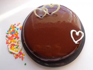 کیک شیفون شکلاتی